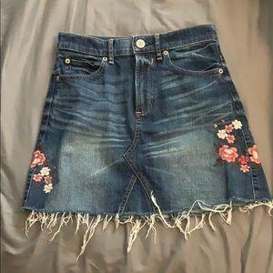 denim mini skirt from express